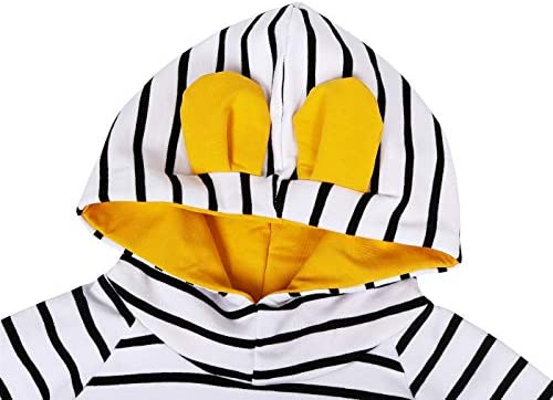 Edjude Conjuntos de Ropa Beb/és Ni/ñas Reci/én Nacidos 3 Piezas Trajes de Manga Larga Mono de Mameluco Camiseta Diadema Floral 0-3 a/ños