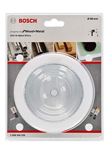 Bosch Professional Lochsäge Progressor for Wood & Metal (Holz und Metall, Ø 98 mm, Zubehör Bohrmaschine)