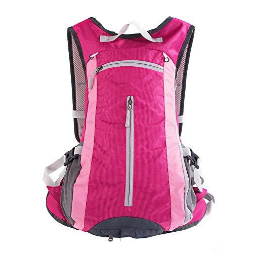 Ergonómica para Viajes Excursiones Acampadas Trekking,Bolsa de senderismo ligera para exteriores, bolsa de senderismo impermeable y transpirable-Rosa roja,Impermeable Mochila de Marcha Trekking