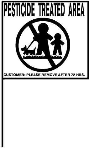 Caution Pesticide discount Application Signs Universal – Durable OFFicial site Sc