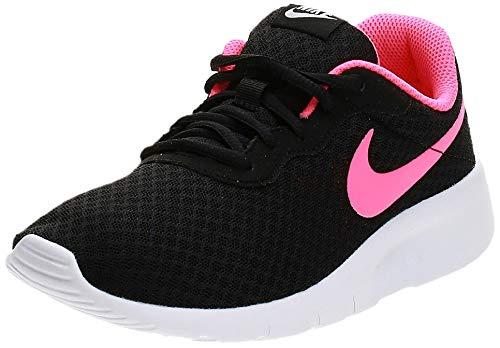 Nike Mädchen Tanjun (Gs) Laufschuhe, Schwarz (Black/Hyper Pink-White), 38.5 EU