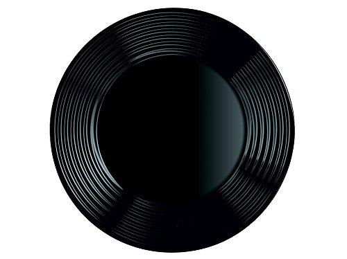 Arcoroc ARC L7613 Harena Teller flach, 19 cm, Opalglas, schwarz