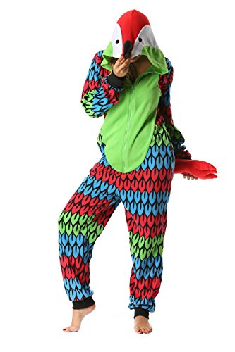 6349-S Just Love Adult Onesie/Womens Pajamas, Parrot, Small