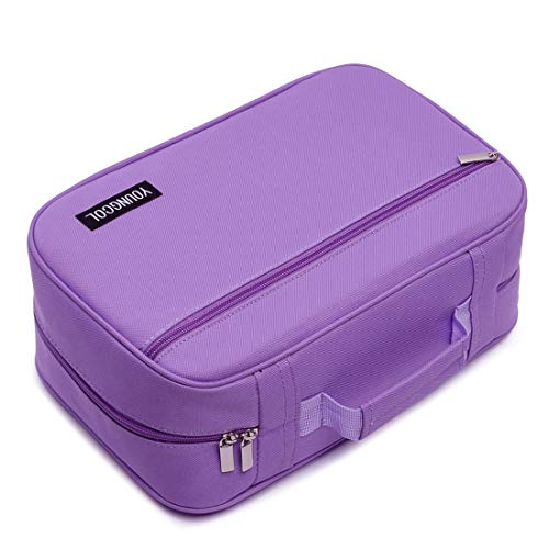 300 Slots Pencil Case 200 Gel Pen Case High Capacity Pens Holder Colored Pencils Organizer Storage for Watercolor Pens Markers (Purple)