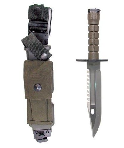Ultimate Arms Gear Tactical Limited Edition Special Forces Series Stainless Steel M9 M-9 Military Sawback Survival Blade Bayonet Knife With Tactical Sheath Scabbard