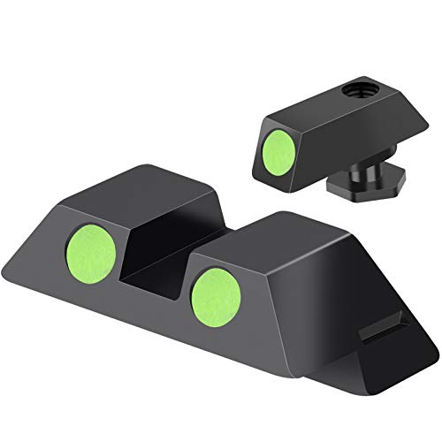Feyachi NS16 Night Sights Glow in The Dark for Glock Pistol 17 17L 19 26 27 33 34 38 39, NO TRITIUM