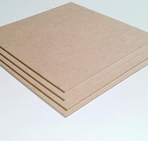 3 mm dikke MDF-platen van hout. Afmetingen: 800 x 400 mm. Speciale maten.