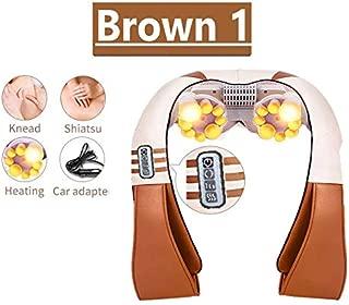 Back, Neck, Shoulder Shiatsu/Kneading Massager (Brown, 1)