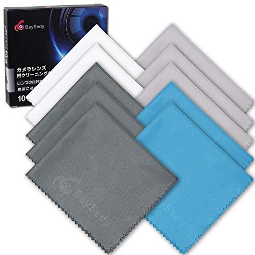 BaySedy クリーニングクロス メガネ拭き カメラレンズ や液晶画面用 マイクロファイバー 20×18cmの10枚セット(4色) JTB101