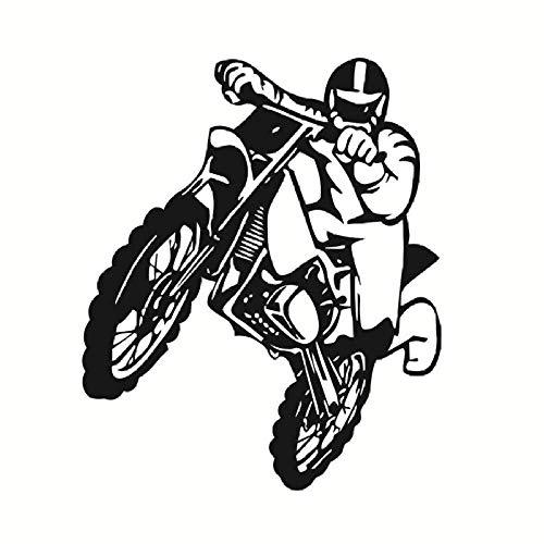 Sprünge Motorrad Wandaufkleber Motocross Home Decoratioin Vinyl Abnehmbare Tapete Wandbild Poster Schlafzimmer Wohnzimmer Dekor 58X69cm