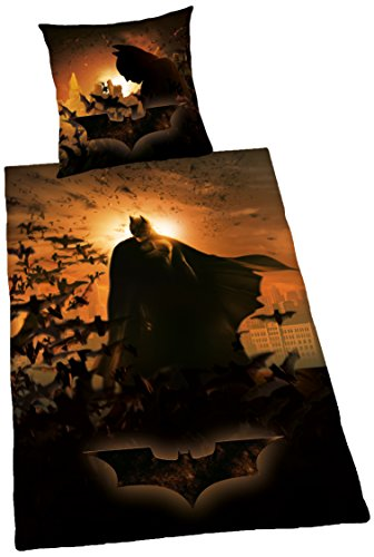Herding Batman Bettwäsche Juego de Cama, poliéster, Negro, 135 x 200 cm