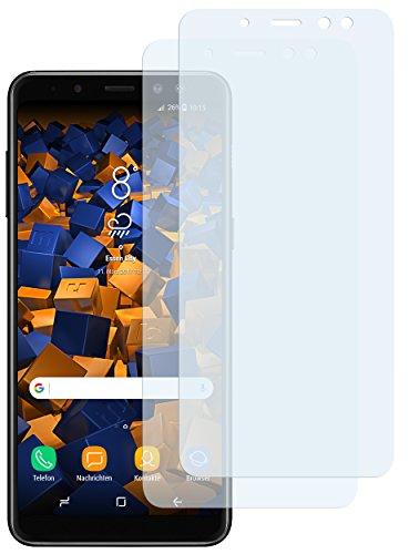 mumbi Schutzfolie kompatibel mit Samsung Galaxy A8 2018 Folie klar, Bildschirmschutzfolie (2X)