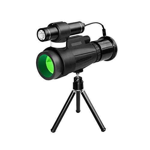 ZHCJH 12x50 Monokular Teleskop, Hochleistungs Monokular Teleskop Kompakt mit Nachtsicht HD BAK4 Prisma FMC Objektiv WiFi Monokular mit Smartphone Adapter für Erwachsene Kinder Vogelbeobachtung