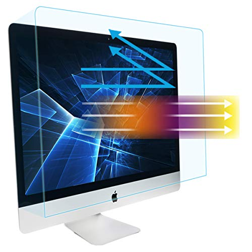 Eye Protection Anti Blue Light & Glare Screen Protector fit iMac 27-inch Desktop Display and iMac Pro 27-inch A1862, Reduce Glare Reflection and Eyes Strain, Fingerprint-Resist (25 1/2 x 15 1/8 Inch)