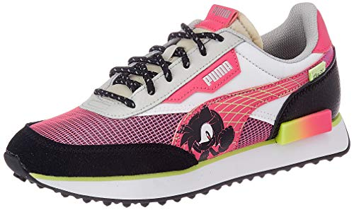 PUMA SEGA Future Rider Jr Sneaker, Glowing Pink Black, 38 EU