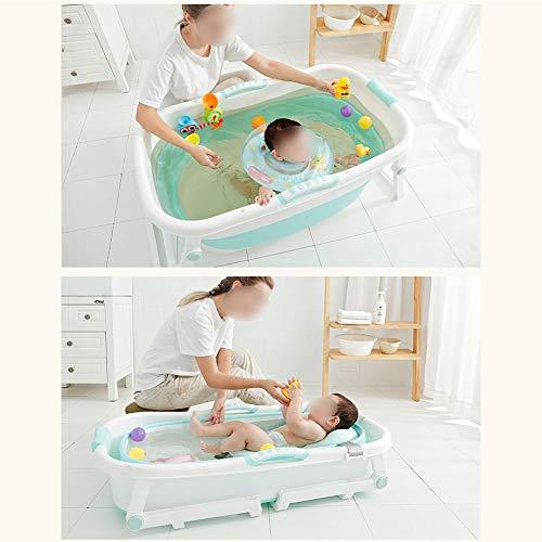 Chicti Opvouwbare draagbare isolerende badkuip voor volwassenen, dikke kunststof badkuip voor kleine kinderen, groot kinderzwembad