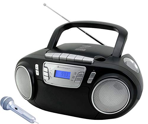 Soundmaster SCD5800SW UKW Radio CD-MP3 Kassettenrekorder USB Mikrofon