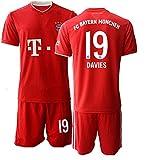 JEEG 20/21 Herren Davies 19# Fußball Trikot Fans Jersey Trainings Trikots (L)