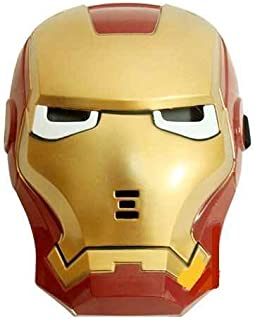 Ironman de máscara para niños, con LED de luz