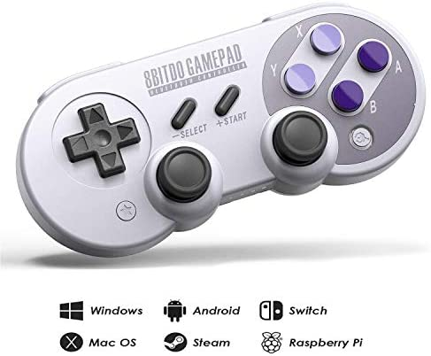 8Bitdo SN30 Pro Wireless Bluetooth Controller with Joysticks Rumble Vibration USB C Cable Gamepad product image