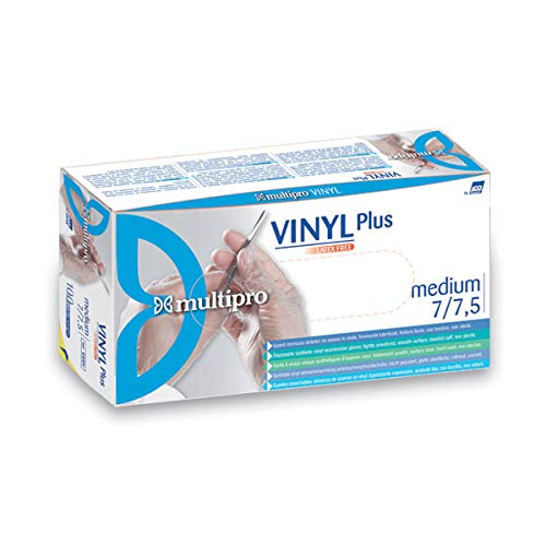 Multipro Vinyl Plus Handschoen, S, Transparant, 100