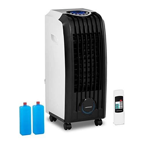 Uniprodo UNI_COOLER_09 Luftkühler Klimagerät Air Cooler Luftbefeuchter Kühlgerät Luftreiniger 7 l Tank Fernbedienung 3 in 1