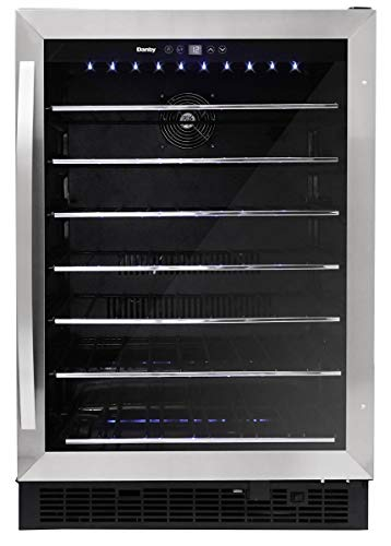 Danby DWC057A1BSS Built In Beverage Center, Single Zone Under Counter Wine Chiller In Stainless Steel - For Kitchen, Home Bar