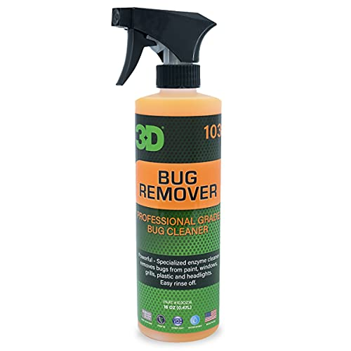 3D Bug Remover - All Purpose Exterior Cleaner & Degreaser to Wipe Away Bugs on Plastic, Rubber, Metal, Chrome, Aluminum, Windows & Mirrors, Safe on Car Paint, Wax & Clear Coat 16oz.