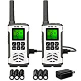 Retevis RT45 Walkie Talkies Rechargeable,Long Range 2 Way Radio for Adults,NOAA Weather Alert 22CH,with 1000mAh AA Batteries,Two Way Radio for Camping Hiking Outdoor (2 Pack)
