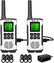 Retevis RT45 Walkie Talkies for Adults,2 Way Radio Long Range Rechargeable, NOAA Weather Scan 22CH,with 1000MAH AA Batteries ,Two Way Radio for Camping Hiking Outdoor (2 Pack)