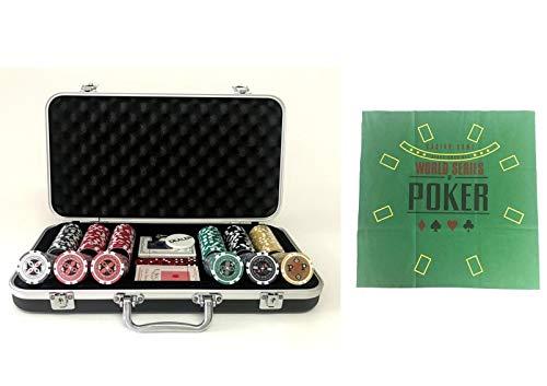 Pokerproductos Maletín 300 fichas Ultimate con tapete de Regalo