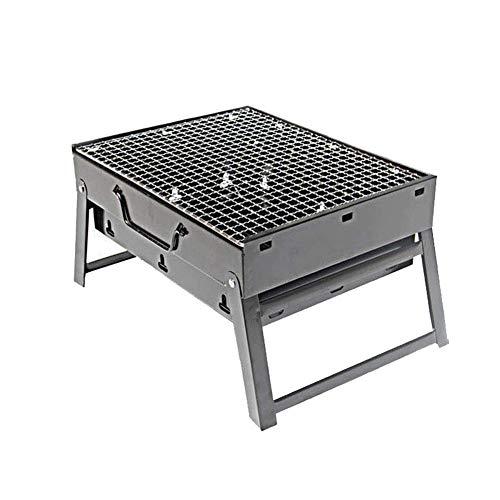 NAFE Draagbare houtskool grill, opvouwbaar, lichtgewicht, met net, geschikt voor outdoor camping picknick rugzak koken festival feest-zwart, BBQ
