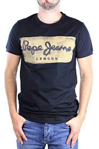 Pepe Jeans Charing PM503215 Camiseta, Negro (Black 999), X-Large para Hombre