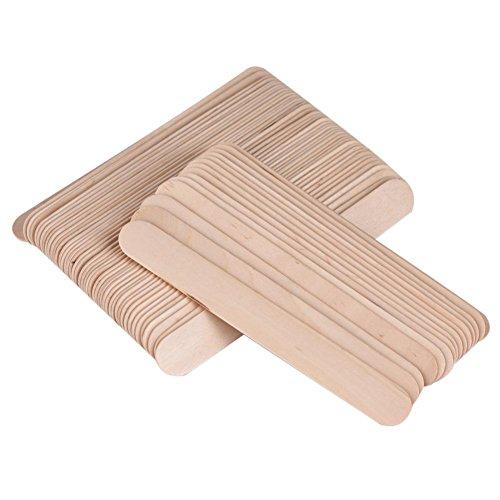 Applicateur de cire bâtons, 100 pcs/sac épilation à la cire bâton applicateur de spatule en bois spatule abaisse-langue spatule outil de bricolage utilisé pour le corps