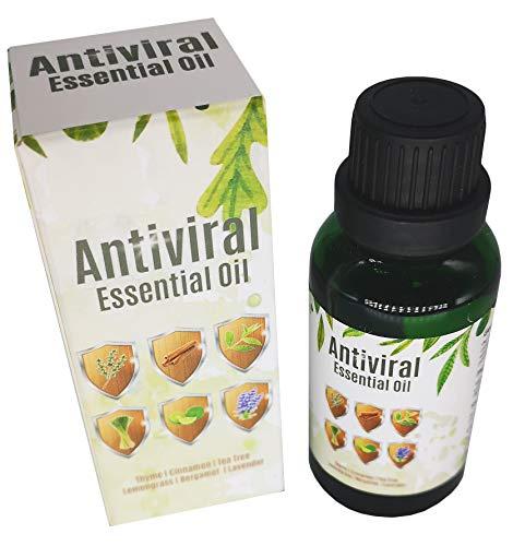Antiviral Aromatherapy Oil. Helps Lungs & Airways. Combat Viruses, Bacteria, Bugs & Germs. Steam, Inhale, Diffuser or Bath. Antibacterial. Thyme, Lavender, Cinnamon, Tea Tree, Bergamot & Lemongrass