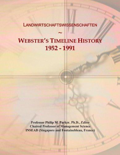 Landwirtschaftswissenschaften: Webster's Timeline History, 1952 - 1991