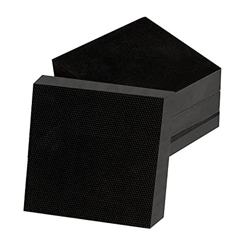 Shhma gummi bänk block gummistämpel block lämplig för tvättmaskin, 100 mm x 100 mm x 15 mm,4pcs