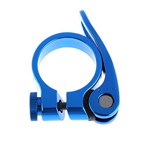Demiawaking, morsetto a sgancio rapido, per mountain bike, bicicletta, 31,8 mm, colore blu
