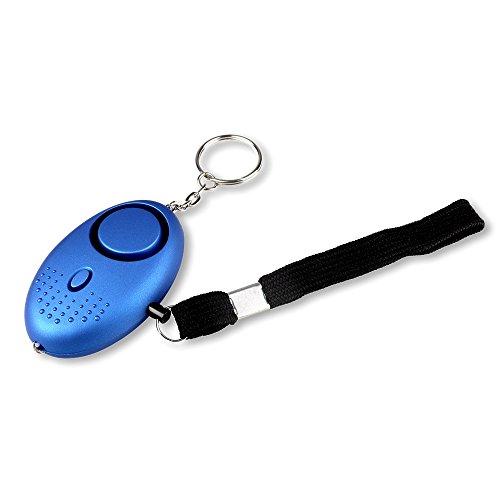 Schramm® Taschenalarm hellblau Panikalarm Selbstschutz 130db Schlüsselanhänger Taschenlampe Taschen Alarm Schlüssel Panik Selbstverteidigung