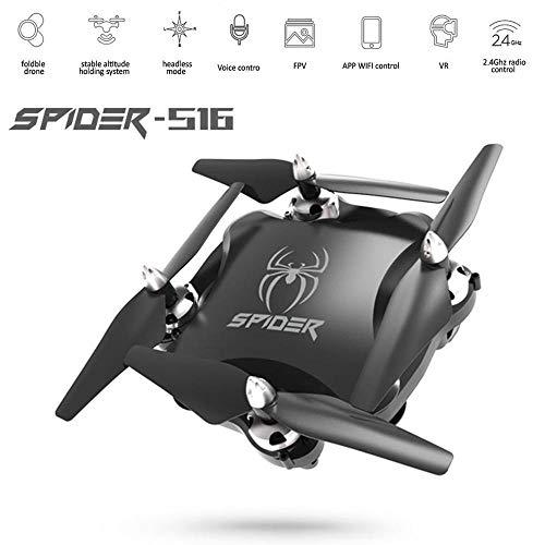 Quadcopter Drones Met Camera HD Zwaartekrachtsensor Rc Helicopter Spraakbesturing FPV Videotransmissie 2.4G RC Drone-Speelgoed, Kan Als Cadeau Aan Uw Kind Worden Gegeven,Black