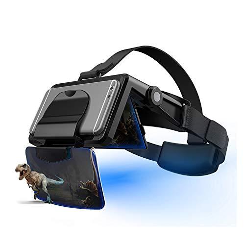 QQO VR Headset, 3D-VR-Kopfhörer Virtual Reality 3D-Brille VR-Headsets Für 4,7-6,3 Zoll-Telefon Für VR-Helm (Schwarz)