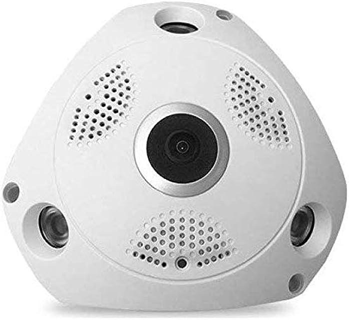 ZLJ Inicio WiFi cámara IP HD 1080P de la cámara de vigilancia de la Seguridad casera con detección de Movimiento inalámbrico visión Nocturna 64GB Blanco 5MP