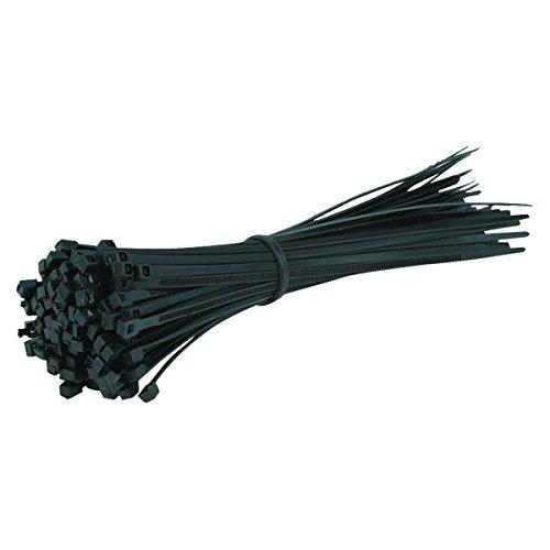 100Stück Kabelbinder schwarz–300mm x 4,8mm–hohe Qualität Starke Nylon Kabelbinder von Gocableties
