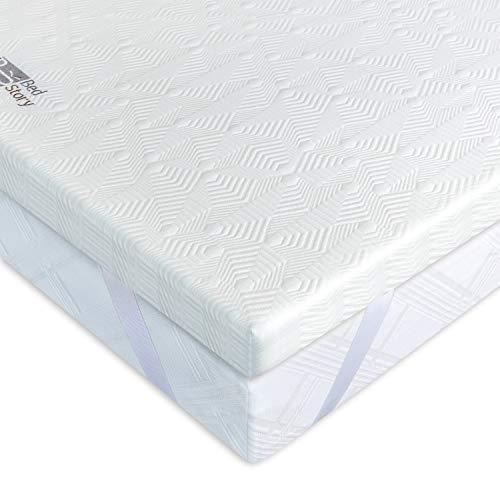 BedStory Komfortabler 7 Zonen Matratzentopper aus Kaltschaum (Größe 160 x 200 x 5 cm), orthopädischer Topper als Matratzenauflage für unbequeme Betten/Matratze/Boxspringbett