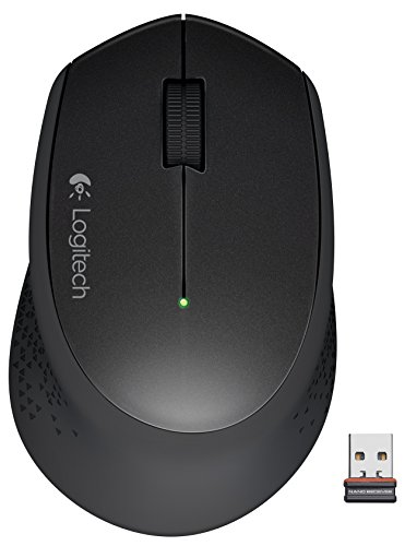 Logitech M320 - Ratón (Óptico, RF inalámbrica + USB, 1000 dpi, Negro)