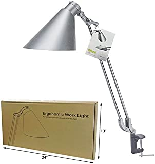 Clamp Mount Silver Ergonomic Single Arm Work Light DM1ECS0