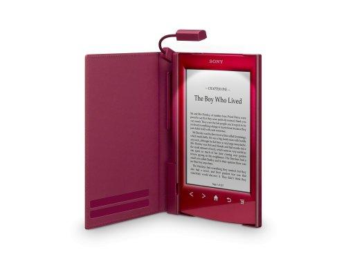 Sony PRSA-CL22 Leder Schutzhülle für E-Book PR-TS2 Reader hell-rot