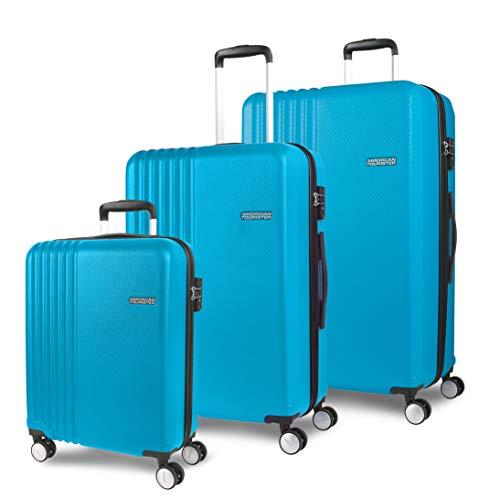 American Tourister Beachrider - Juego de 3 maletas (78 cm, 99 L), color turquesa