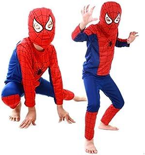boy kid 3 piece spiderman cosplay superhero costume