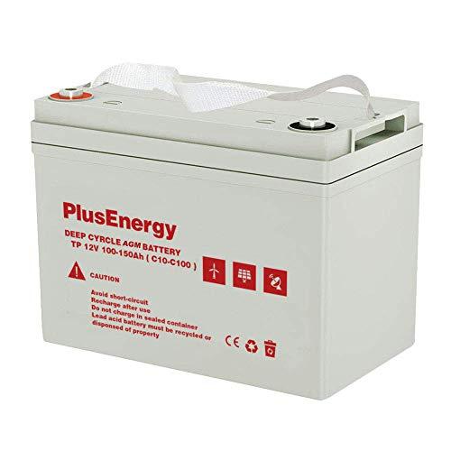 Plusenergy wccsolar Batería Solar 12v Ciclo Profundo AGM 150Ah 250Ah Gel 150Ah 250Ah Solar Fotovoltaica con terminales (150A AGM)